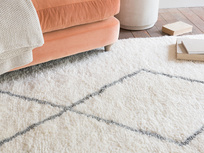 Casbah fluffy wool floor rug