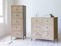 Flapper parquet furniture chest of drawers range