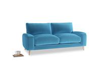 Small Strudel Sofa in Teal Blue plush velvet