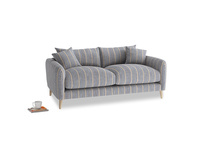 Small Squishmeister Sofa in Brittany Blue french stripe