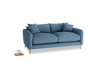 Small Squishmeister Sofa in Easy blue clever linen