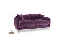 Small Squishmeister Sofa in Grape clever velvet
