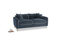 Small Squishmeister Sofa in Liquorice Blue clever velvet