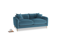 Small Squishmeister Sofa in Old blue Clever Deep Velvet