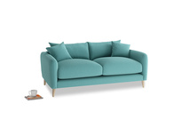Small Squishmeister Sofa in Peacock brushed cotton