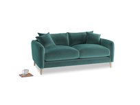 Small Squishmeister Sofa in Real Teal clever velvet