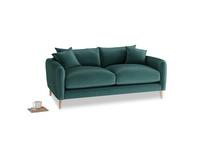 Small Squishmeister Sofa in Timeless teal vintage velvet
