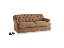 Large Truffle Sofa Bed in Walnut beaten leather