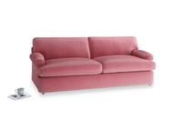 Large Slowcoach Sofa Bed in Blushed pink vintage velvet