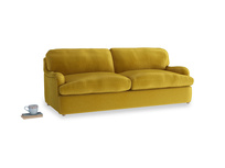 Large Jonesy Sofa Bed in Burnt yellow vintage velvet