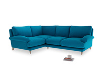 Large Left Hand Slowcoach Corner Sofa in Bermuda Brushed Cotton