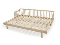 Kipster solid oak sofa bed frame detail