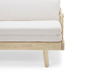 Kipster solid oak wood sofa bed