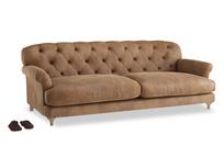 Extra large Truffle Sofa in Walnut beaten leather