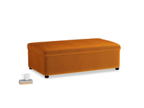 Double Bed in a Bun in Spiced Orange clever velvet