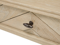 Fab Flapper wooden parquet desk handle detail