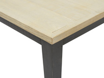 Kernel bandsawn oak kitchen table top detail