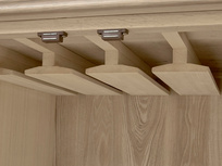 Bootleg oak wood drinks cabinet inside detail