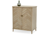 Bootleg parquet oak wood cocktail cabinet
