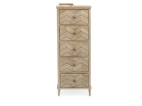 Tall Flapper tall boy chest of drawers