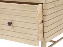 Big Bubba blonde oak wooden shelving unit drawers detail