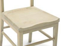 Idler wooden kitchen chair seat detail