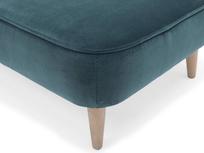 Soapbox upholstered footstool corner detail