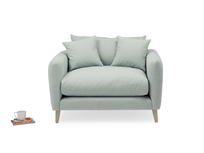 Squishmeister love seat handmade upholstered
