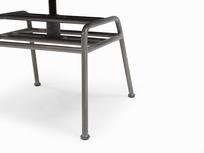 Milkshake adjustable leather retro kitchen chair leg detail