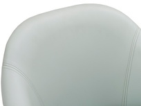 Milkshake leather retro kitchen chair in Duck Egg blue