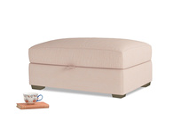 Bumper Storage Footstool in Pink clay Clever Softie