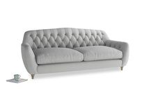 Large Butterbump Sofa in Pewter Clever Softie