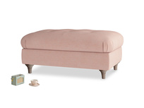 Rectangle Jammy Dodger Footstool in Tuscan Pink Clever Softie