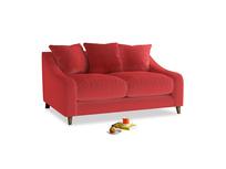 Small Oscar Sofa in True Red Plush Velvet