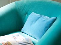 Schnaps button back slope arm armchair