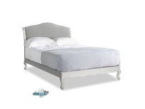 Double Coco Bed in Scuffed Grey in Pewter Clever Softie