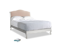 Double Coco Bed in Scuffed Grey in Pink clay Clever Softie