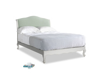 Double Coco Bed in Scuffed Grey in Soft Green Clever Softie