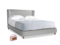 Kingsize Hugger Bed in Pewter Clever Softie