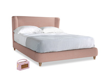 Kingsize Hugger Bed in Tuscan Pink Clever Softie