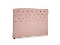 Kingsize Billow Headboard in Tuscan Pink Clever Softie