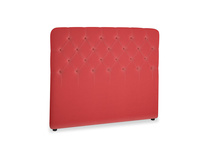 Double Billow Headboard in True Red Plush Velvet