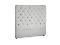 Double Tall Billow Headboard in Pewter Clever Softie