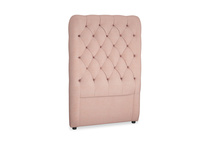 Single Tall Billow Headboard in Tuscan Pink Clever Softie