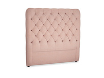 Double Tall Billow Headboard in Tuscan Pink Clever Softie