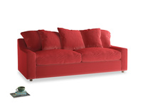 Large Cloud Sofa in True Red Plush Velvet