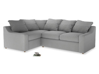 Large Left Hand Cloud Corner Sofa in Pewter Clever Softie