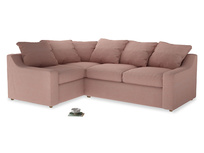 Large Left Hand Cloud Corner Sofa in Tuscan Pink Clever Softie