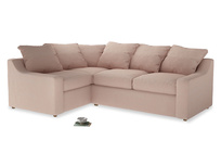 Large Left Hand Cloud Corner Sofa in Pink clay Clever Softie