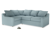 Large Left Hand Cloud Corner Sofa in Powder Blue Clever Softie